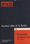 Kritické projevy - 10 (1917-1918) obálka knihy