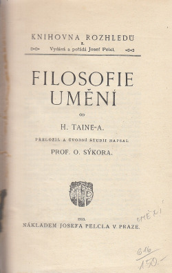 Filosofie umění obálka knihy