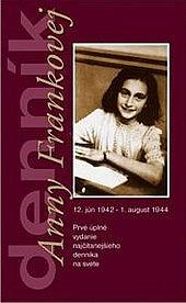 Denník Anny Frankovej obálka knihy
