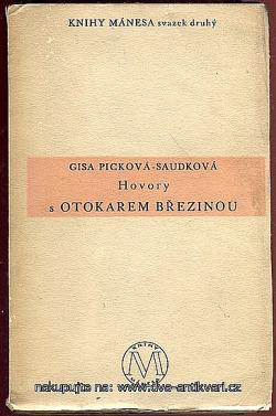 Hovory s Otokarem Březinou obálka knihy