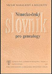Německo-český slovník pro genealogy obálka knihy
