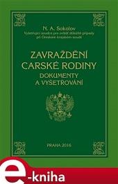 Zavraždění carské rodiny obálka knihy