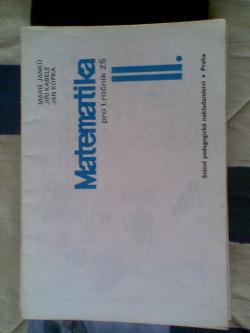 Matematika pro 1. ročník ZŠ  II. obálka knihy