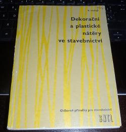 Dekorační a plastické nátěry ve stavebnictví obálka knihy