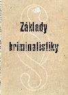 Základy kriminalistiky obálka knihy