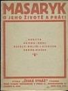 Masaryk - O jeho životě a práci obálka knihy