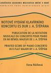 Notové vydání klavírního koncertu Es dur J. A. Štěpána