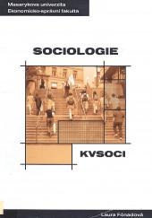 Sociologie - distanční studijní opora obálka knihy