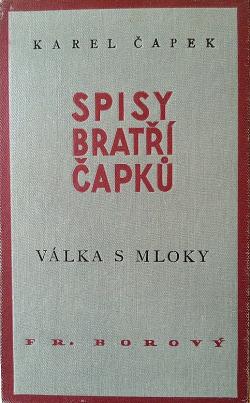 Válka s Mloky obálka knihy