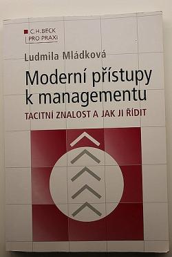 Moderní přístupy k managementu - Tacitní znalost a jak ji řídit obálka knihy