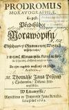 Prodromus Moravographiae. To gest: Předchůdce Morawopisu