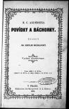 H. C. Andersena Povídky a báchorky