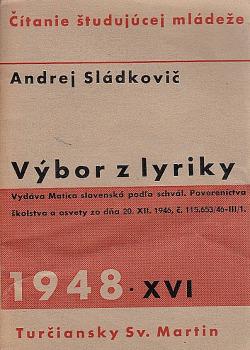 Výbor z lyriky obálka knihy