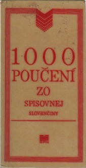 Obálka knihy 1000 poučení zo spisovnej slovenčiny