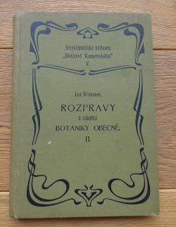Rozpravy z oboru botaniky obecné II obálka knihy