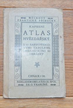 Kapesní ATLAS HVĚZDÁŘSKÝ (Muckovy praktické příručky) obálka knihy