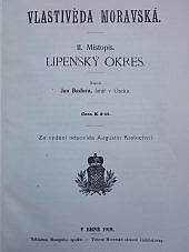 Vlastivěda moravská. II. Místopis. Lipenský okres obálka knihy