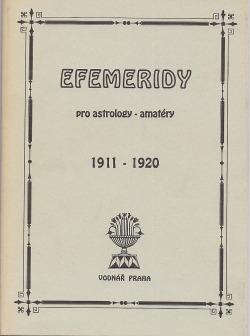 Efemeridy pro astrology - amatéry 1911-1920 obálka knihy