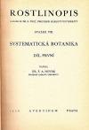 Rostlinopis: Systematická botanika, 1. díl