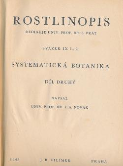 Rostlinopis, část speciální: Systematická botanika, 2. díl obálka knihy
