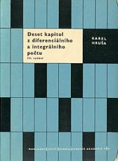 Deset kapitol z diferenciálního a integrálního počtu obálka knihy