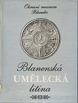 Blanenská umělecká litina obálka knihy