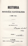 Historia povstaňja slovenskjeho z roku 1848