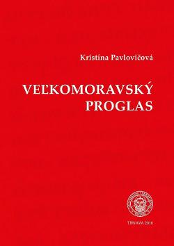 Veľkomoravský Proglas obálka knihy