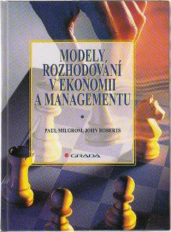 Modely rozhodování v ekonomii a managementu obálka knihy