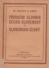 Příruční slovník česko-slovenský a slovensko-český
