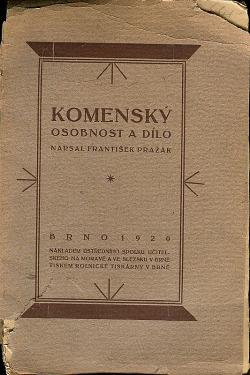 Komenský: osobnost a dílo obálka knihy