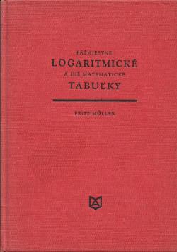 Päťmiestne logaritmické a iné matematické tabuľky obálka knihy