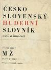 Československý hudební slovník osob a institucí II.