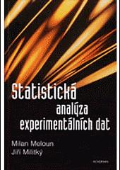 Statistická analýza experimentálních dat obálka knihy