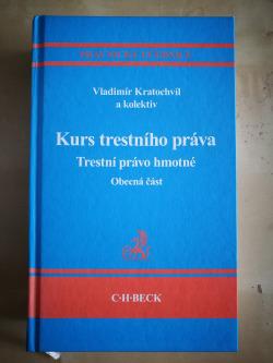 Kurs trestního práva obálka knihy