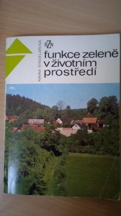 Funkce zeleně v životním prostředí obálka knihy