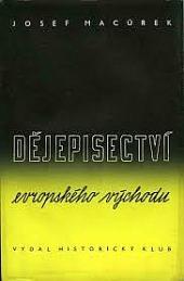 Dějepisectví evropského východu obálka knihy