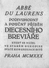 Podivuhodný a poučný příběh diecésního breviáře, který se našel ve starém rukopise svaté kongregace ritů