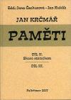 Jan Krčmář: Paměti – díl II. a III.