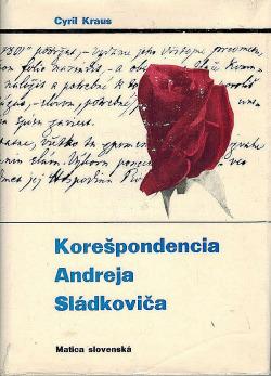 Korešpondencia Andreja Sládkoviča obálka knihy