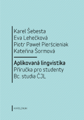 Aplikovaná lingvistika: Příručka pro studenty Bc. studia ČJL obálka knihy