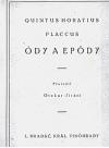 Ódy a epódy obálka knihy