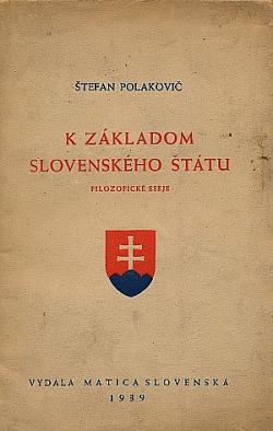 K základom Slovenského štátu obálka knihy