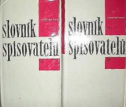Slovník spisovatelů Sovětský svaz I a II obálka knihy