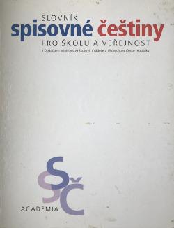 Slovník spisovné češtiny pro školu a veřejnost obálka knihy