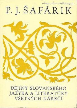Dejiny slovanského jazyka a literatúry všetkých nárečí obálka knihy