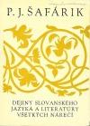 Dejiny slovanského jazyka a literatúry všetkých nárečí