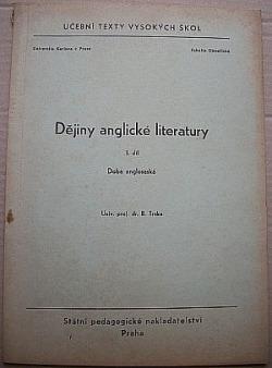Dějiny anglické literatury I. díl - Doba anglosaská obálka knihy