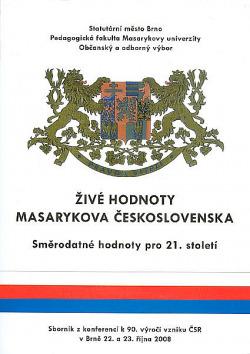 Živé hodnoty Masarykova Československa obálka knihy