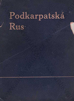 Podkarpatská Rus obálka knihy